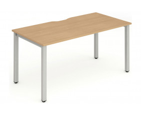 Pamola Single Bench Desk (Silver Legs)
