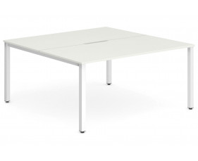 Pamola Back To Back Starter Bench Desk (White Legs)