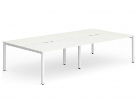 Pamola Double Back To Back Bench Desk (White Legs)