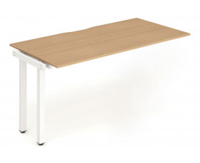 Pamola Single Add On Bench Desk (White Legs)