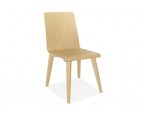 Parina One Piece Beech Side Chair With Wooden Legs