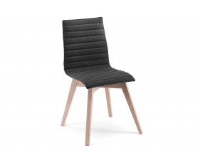 Parina Upholstered Side Chair With Wooden Legs