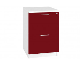 Next-Day Illusion 2 Drawer Filing Cabinet Burgundy Gloss