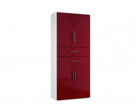 Next-Day Illusion Combination Cupboard Type 6 Burgundy Gloss