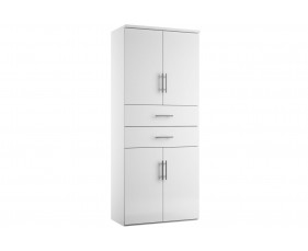 Illusion combination cupboard type 6 white gloss