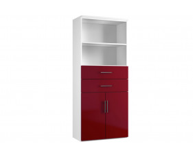 Next-Day Illusion Combination Cupboard Type 3 Burgundy Gloss