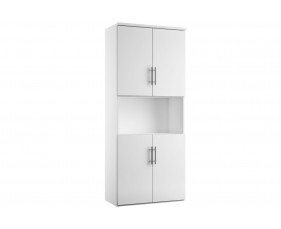 Illusion combination cupboard type 5 white gloss