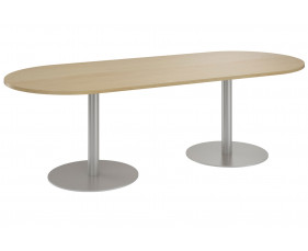 Lozano D End Meeting Table (Natural Oak)