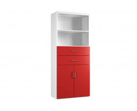 Solero cupboard combination 3 (red)