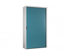 Solero Tall Tambour Unit (Light Blue)