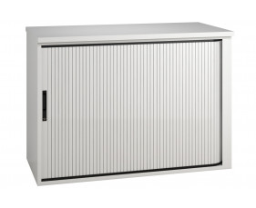 Illusion low tambour unit white gloss