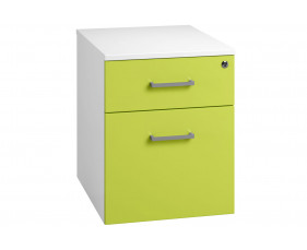 Solero Low Mobile 2 Drawer Pedestal (Green)