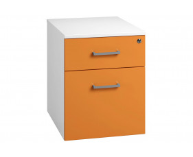 Campos Low Mobile 2 Drawer Pedestal (Orange)