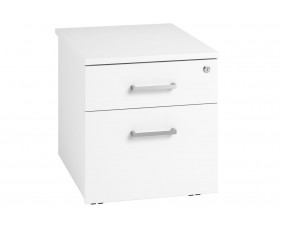Campos Low Mobile 2 Drawer Pedestal (White)
