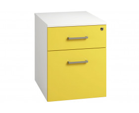 Campos Low Mobile 2 Drawer Pedestal (Yellow)