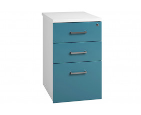 Solero Desk High Pedestal (Light Blue)