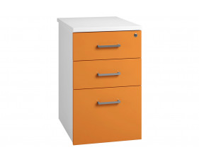 Solero Desk High Pedestal (Orange)