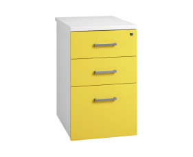 Solero Desk High Pedestal (Yellow)