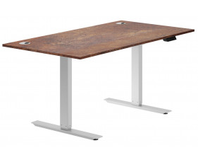 Delgado Sit & Stand Desk (Rusted Steel)