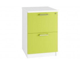 Solero 2 Drawer Filing Cabinet (Green)