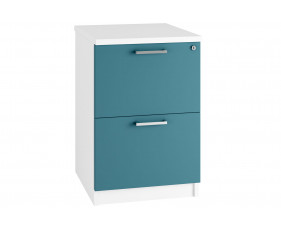 Solero 2 Drawer Filing Cabinet (Light Blue)