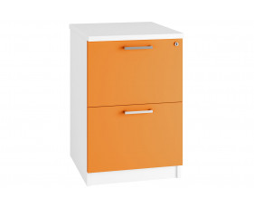 Campos 2 Drawer Filing Cabinet (Orange)