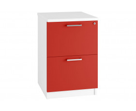 Next-Day Solero 2 Drawer Filing Cabinet (Red)