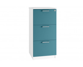 Solero 3 Drawer Filing Cabinet (Light Blue)