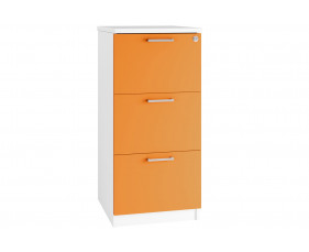 Campos 3 Drawer Filing Cabinet (Orange)