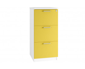 Solero 3 Drawer Filing Cabinet (Yellow)