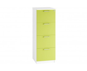 Solero 4 Drawer Filing Cabinet (Green)