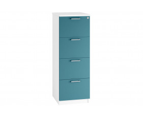Solero 4 Drawer Filing Cabinet (Light Blue)