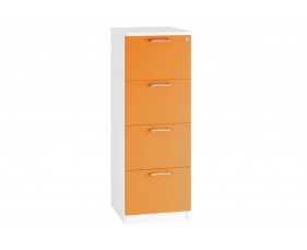 Solero 4 Drawer Filing Cabinet (Orange)