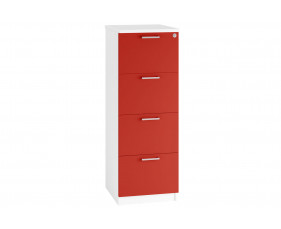Solero 4 drawer filing cabinet (red)