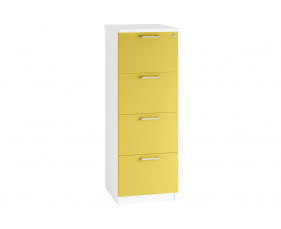 Solero 4 Drawer Filing Cabinet (Yellow)