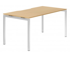 Lozano H-Leg Single Bench Desk (Beech)