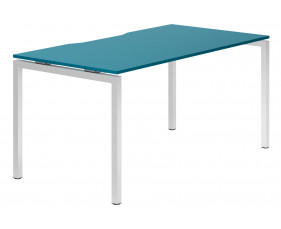 Campos H-Leg Single Bench Desk (Light Blue)