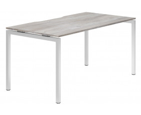 Lasso H-Leg Single Bench Desk (Platinum Oak)