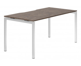 Lasso H-Leg Single Bench Desk (Pitted Steel)