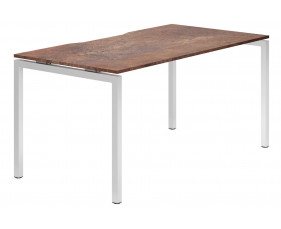 Lasso H-Leg Single Bench Desk (Rusted Steel)