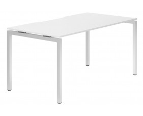 Campos H-Leg Single Bench Desk (White)
