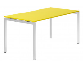 Campos H-Leg Single Bench Desk (Yellow)