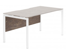 Lasso Modesty Panel For Single Bench Desks (Pitted Steel)