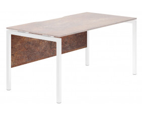 Lasso Modesty Panel For Single Bench Desks (Rusted Steel)