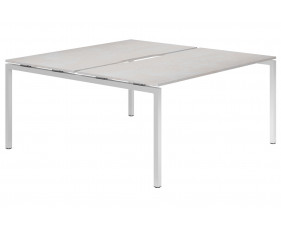Lasso H-Leg 2 Person Back To Back Bench Desk (Concrete)