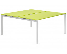 Campos H-Leg 2 Person Back To Back Bench Desk (Green)