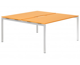 Campos H-Leg 2 Person Back To Back Bench Desk (Orange)
