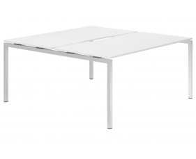 Campos H-Leg 2 Person Back To Back Bench Desk (White)