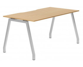 Lozano A-Frame Single Bench Desk (Beech)