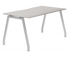 Lasso A-Frame Single Bench Desk (Concrete)